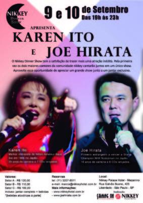 Cartaz Dinner Show - Karen e Joe